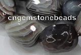 CAG748 15.5 inches 18*25mm faceted egg-shaped botswana agate beads