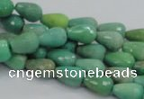 CAG7876 15.5 inches 8*10mm faceted teardrop grass agate beads