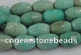CAG7883 15.5 inches 12*16mm faceted rice grass agate beads