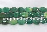 CAG7929 15.5 inches 22*30mm - 25*25mm faceted octagonal grass agate beads