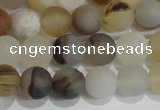 CAG8011 15.5 inches 6mm round matte Montana agate gemstone beads