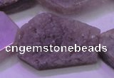 CAG8460 15.5 inches 25*35mm - 30*40mm freeform grey druzy agate beads