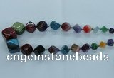 CAG8526 15.5 inches 9*10mm - 23*24mm cube dragon veins agate beads