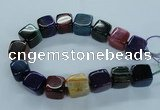 CAG8530 15.5 inches 23*24mm cube dragon veins agate beads