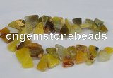 CAG8543 Top drilled 15*20mm - 25*30mm freeform dragon veins agate beads
