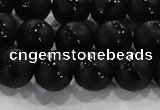 CAG8681 15.5 inches 8mm round matte tibetan agate gemstone beads