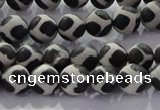 CAG8695 15.5 inches 6mm round matte tibetan agate gemstone beads