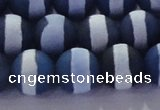 CAG8718 15.5 inches 12mm round matte tibetan agate gemstone beads