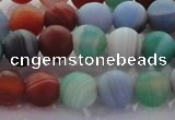CAG8730 15.5 inches 6mm round matte madagascar agate beads