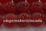 CAG8914 15.5 inches 8mm round matte red agate beads wholesale