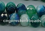 CAG9052 15.5 inches 13*18mm faceted oval line agate beads