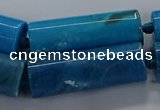 CAG9088 15.5 inches 12*46mm - 13*48mm tube dragon veins agate beads