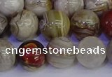 CAG9115 15.5 inches 14mm round Mexican crazy lace agate beads
