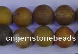 CAG9285 15.5 inches 14mm round matte ocean jasper beads wholesale