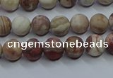 CAG9291 15.5 inches 6mm round matte Mexican crazy lace agate beads