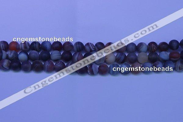 CAG9373 15.5 inches 10mm round matte botswana agate beads