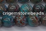 CAG9474 15.5 inches 10mm round blue crazy lace agate beads