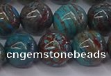 CAG9475 15.5 inches 12mm round blue crazy lace agate beads