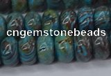 CAG9501 15.5 inches 6*10mm rondelle blue crazy lace agate beads