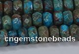 CAG9504 15.5 inches 5*8mm faceted rondelle blue crazy lace agate beads