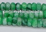 CAG9579 15.5 inches 4*6mm faceted rondelle crazy lace agate beads