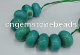 CAG9685 7.5 inches 20*35mm rondelle agate gemstone beads