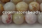 CAG9721 15.5 inches 10mm faceted round colorful agate beads wholesale