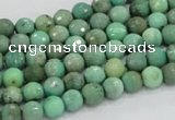 CAG975 15.5 inches 4mm faceted round green grass agate gemstone beads