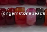 CAG9780 15.5 inches 8*16mm faceted rondelle agate gemstone beads