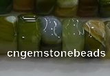 CAG9786 15.5 inches 8*16mm faceted rondelle agate gemstone beads