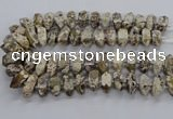 CAG9796 15.5 inches 9*25mm - 11*35mm sticks ocean agate beads