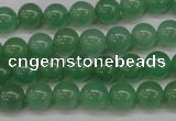 CAJ612 15.5 inches 8mm round AA grade green aventurine beads