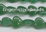 CAJ686 15.5 inches 14*14mm heart green aventurine beads
