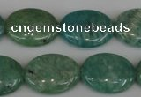 CAM1022 15.5 inches 15*20mm oval natural Russian amazonite beads