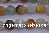 CAM1412 15.5 inches 8mm faceted nuggets amazonite gemstone beads