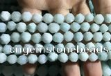 CAM1494 15.5 inches 8mm faceted nuggets amazonite beads wholesale
