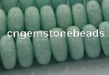 CAM1535 15.5 inches 8*14mm rondelle natural peru amazonite beads