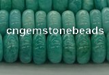CAM1603 15.5 inches 6*10mm rondelle natural peru amazonite beads