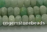 CAM1612 15.5 inches 5*8mm faceted rondelle peru amazonite beads