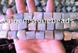 CAM1676 15.5 inches 8*10mm - 12*14mm cube amazonite beads