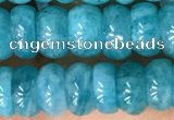 CAM1714 15.5 inches 3*7mm - 4*8mm rondelle natural amazonite beads