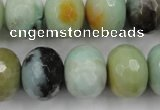 CAM175 15.5 inches 13*18mm faceted rondelle amazonite gemstone beads