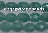 CAM951 15.5 inches 10*14mm faceted oval amazonite gemstone beads wholesale
