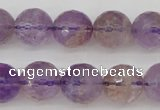CAN153 15.5 inches 10mm faceted round natural ametrine beads