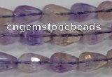 CAN23 15.5 inches 10*14mm faceted teardrop natural ametrine beads