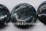 CAP348 15.5 inches 30mm flat round natural apatite gemstone beads