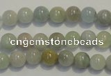CAQ252 15.5 inches 8mm round aquamarine beads wholesale