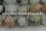 CAQ424 15.5 inches 14mm faceted round natural aquamarine beads
