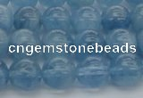 CAQ545 15.5 inches 8mm round AAAA grade natural aquamarine beads
