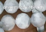 CAQ849 15.5 inches 8mm faceted round aquamarine beads wholesale